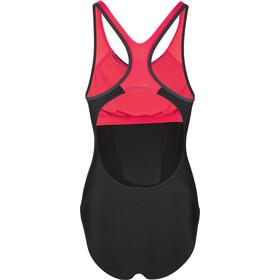 speedo Fit Laneback Traje de Baño Mujer, black/red